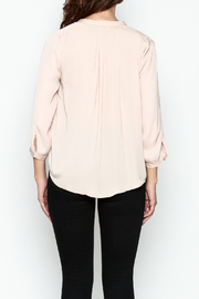 En Creme Three Quarter Sleeve Blouse - Back cropped