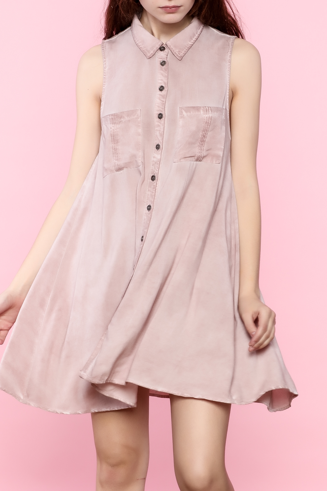 b3121f94259fe0 En Creme Pink Button-Down Dress from Palm Beach by Frankie James ...