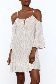 Shoptiques Product: Print Cold Shoulder Dress