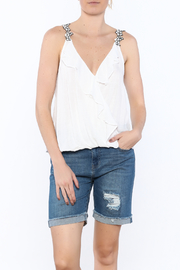 Shoptiques Product: White Textured Sleeveless Top