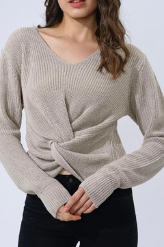 Shoptiques Product: Cropped Knot Sweater