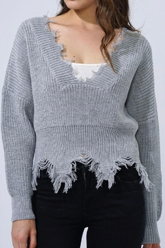 Shoptiques Product: Funky Cropped Sweater