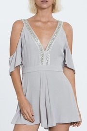 En Creme Beaded Romper - Product Mini Image