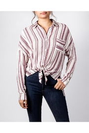 En Creme Berry Stiped Button-Down - Product Mini Image