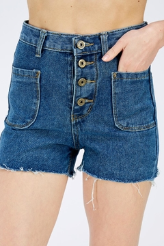 Shoptiques Product: Blue Fringe Shorts