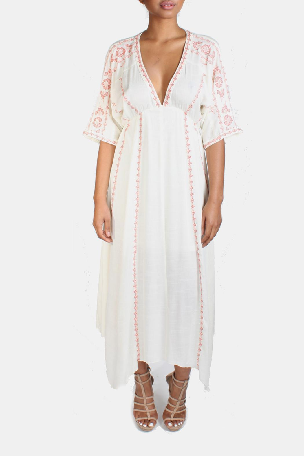 347714316 En Creme Boho Embroidery Kimono Dress from Los Angeles by Goldie's ...