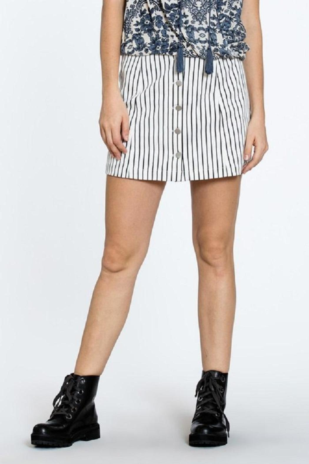 En Creme Button Up Skirt - Main Image