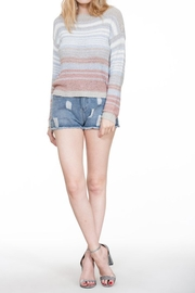 En Creme Colorful Stripe Sweater - Back cropped