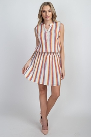 En Creme Colorful Stripes Dress - Back cropped