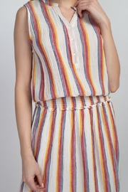 En Creme Colorful Stripes Dress - Other