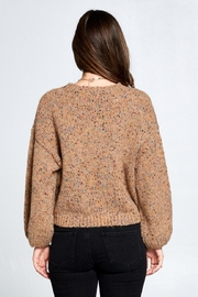 En Creme Confetti Sweater - Back cropped