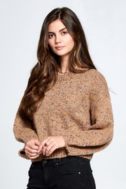 En Creme Confetti Sweater - Front full body