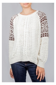En Creme Cozy Cable-Knit Sweater - Product Mini Image