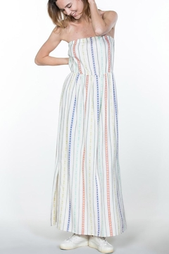 En Creme Cream Stripes Maxi - Product List Image