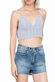 En Creme Crochet Crop Top - Product Mini Image