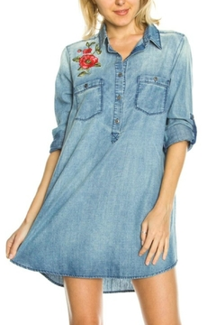 Shoptiques Product: Denim Embroidered Tunic