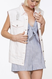 En Creme Distressed Denim Vest - Product Mini Image