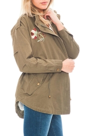 En Creme Embriodery Zip Jacket - Front full body
