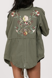 En Creme Embroidered Cargo Jacket - Front full body
