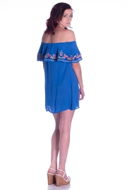 En Creme Embroidered Dress - Front full body