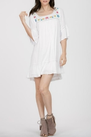 En Creme Embroidered White Boho Dress - Product Mini Image