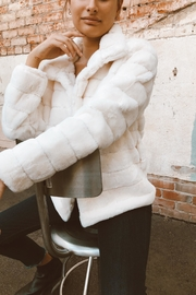 En Creme Faux Fur Coat - Product Mini Image