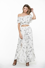 En Creme Floral Maxi Pants - Product Mini Image