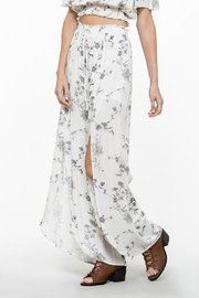 En Creme Floral Open Pants - Product Mini Image
