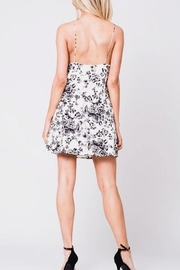 En Creme Floral Slip Dress - Front full body
