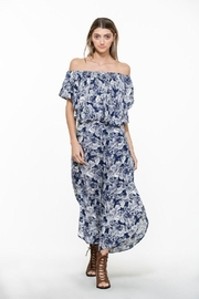 En Creme Floral Wide Pants - Front full body