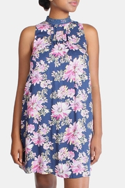 En Creme Floral High Neck Dress - Product Mini Image