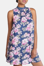 En Creme Floral High Neck Dress - Side cropped