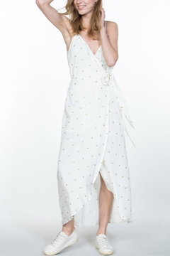 En Creme Gold-Embroidery Wrap Dress - Product List Image
