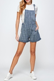 En Creme Hang Time Tie Shoulder Overall Shorts - Product Mini Image