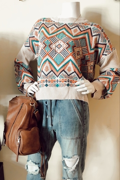 En Creme Kaleidoscope Knit Sweater - Product List Image