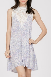 En Creme Lace Mock-Neck Dress - Product Mini Image