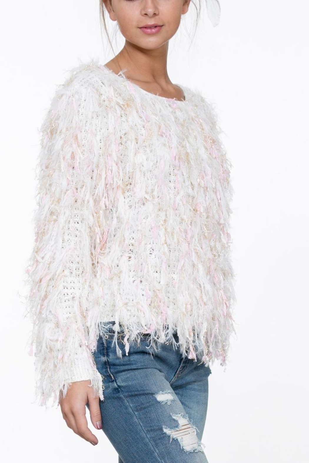 En Creme Long Sleeve Sweater - Front Cropped Image