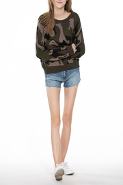 En Creme Long-Sleeved Camo Sweater - Product Mini Image