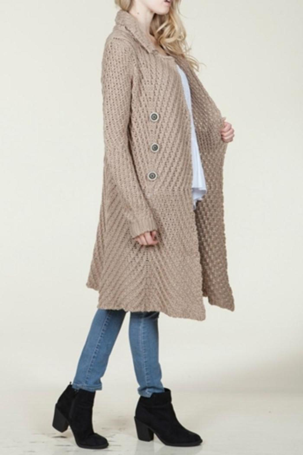 En Creme Long Sweater Coat from North Dakota by Blue Daisy ...