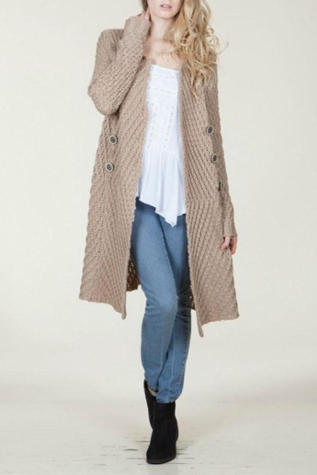 En Creme Long Sweater Coat From North Dakota By Blue Daisy Boutique