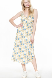 En Creme Mustard Floral Maxi - Front full body