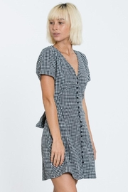En Creme Navy Gingham Dress - Product Mini Image