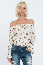 En Creme Off Shoulder Top - Back cropped