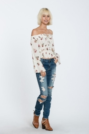 En Creme Off Shoulder Top - Front cropped