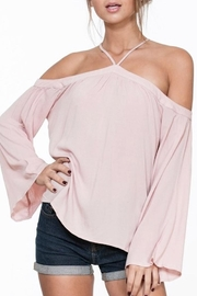 En Creme Open Shoulder Top - Product Mini Image