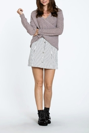 En Creme Overlap Front Sweater - Product Mini Image