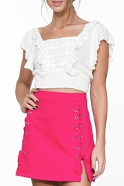 En Creme Pink Denim Skirt - Product Mini Image