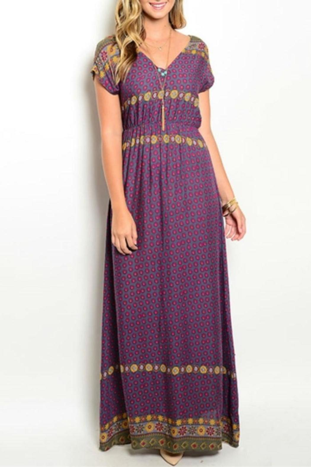 En creme purple maxi dress from nashville by goodbuy girls for Purple maxi dresses for weddings