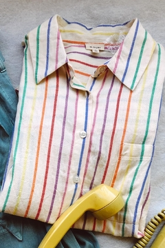 En Creme Rainbow Striped Top - Product List Image
