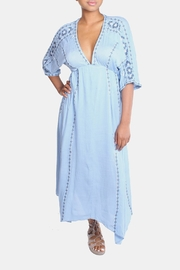 En Creme Sky Blue Boho Dress - Product Mini Image
